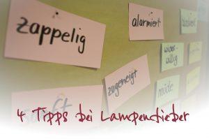 Vier Tipps bei Lampenfieber